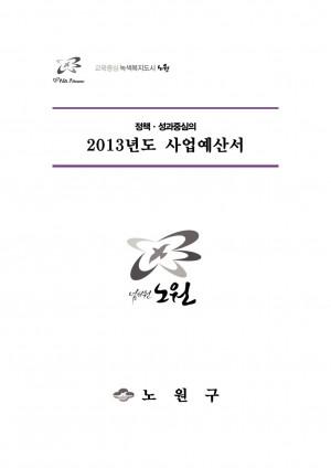 2013년 사업예산서