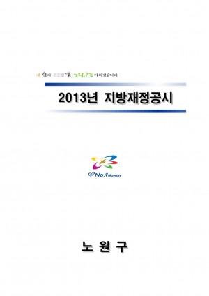 2013년 노원구 지방재정공시